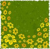 Flowers with grunge background
