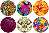 Six Floral Balls to add to your designs