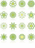 Sixteen Flower Icons