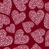 Seamless Tile of Flower Filled Hearts