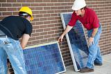 Electricians Measure Solar Panels