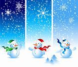 Christmas card, snowman
