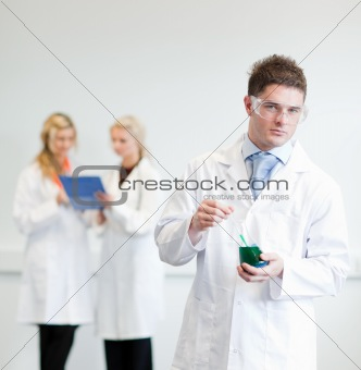 Male Scientisit at work