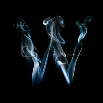one letter from a smoky alphabet