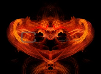 Abstract fire heart.