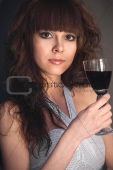 beautiful girl with a wineglass