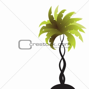 Art palm tree green