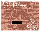 Wall brick, grunge background