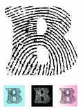 Fingerprint Alphabet Letter B