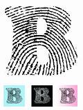 Fingerprint Alphabet Letter B