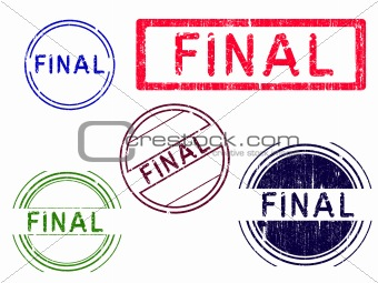 5 Grunge effect Office Stamps - FINAL