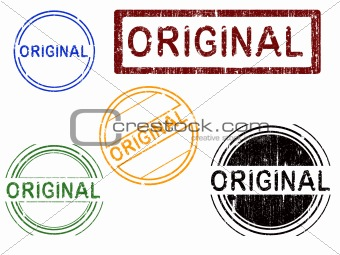 5 Grunge effect Office Stamps - ORIGINAL