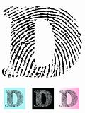 Fingerprint Alphabet Letter D