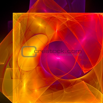 Abstract background. Orange - purple palette.
