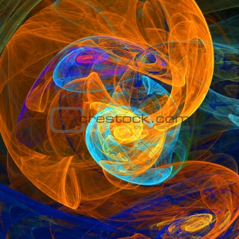 Abstract background. Blue - orange palette.