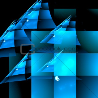 Abstract background. Blue - black palette.