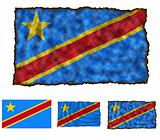 Flag of Congo Democratic Republic
