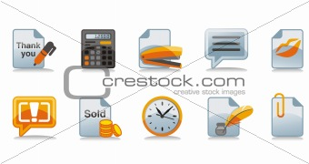 Cashdesk icons set