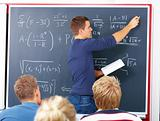 Education - Male teacher teaching algebra