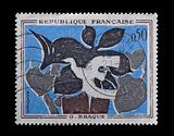 french stamp of braque painting