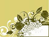 Floral abstract banner for design.