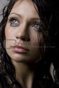 Beautiful wet brunette