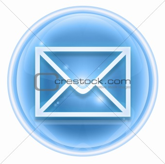 postal envelope icon ice, isolated on white background