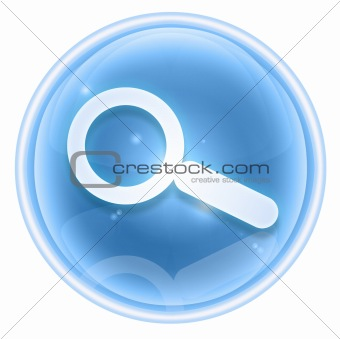 search and magnifier icon ice, isolated on white background.