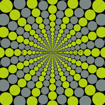 Grey/Green Circular Burst