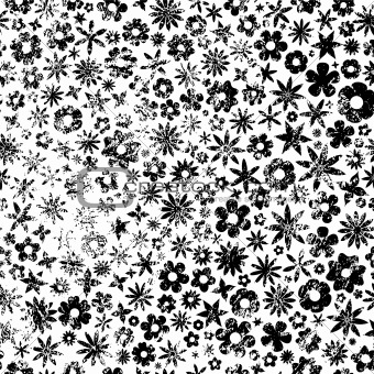 Grunge Flowers Background
