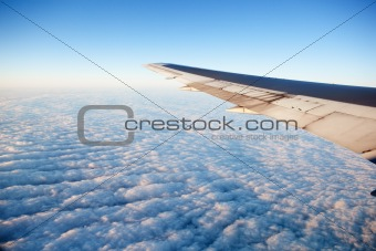 Airplane in wing