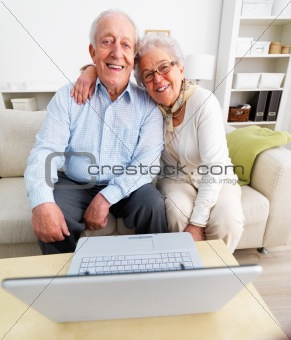 Portrait of a senior couple sitting together