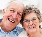 Portrait of a smiling senior couple