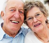Portrait of a smiling old couple
