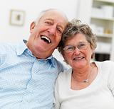 Portrait of a happy old couple