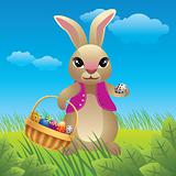 Easter bunny cartoon