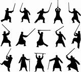 swordsman silhouettes