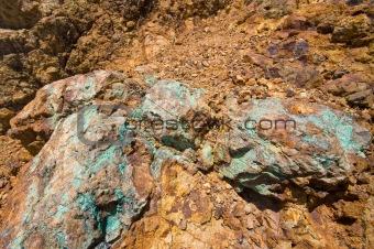 piece of a copper vein