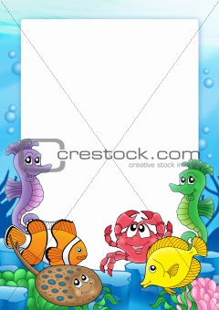 Frame with tropical fishes 2