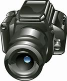 Shiny digital camera illustration