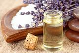 essential oil with lavender spa