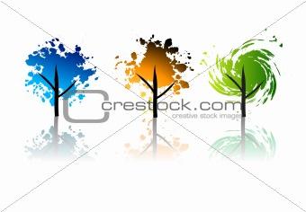 Art trees grunge