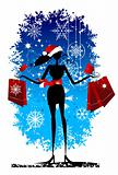 Christmas shopping, fashion woman for yor design