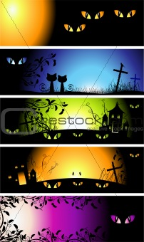 Halloween night banners