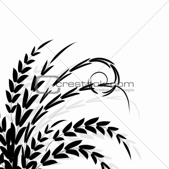 Branch black silhouette