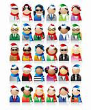 Business people icons, christmas holiday