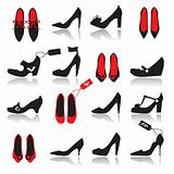 Shoes silhouette collection for your design
