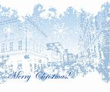 Cityscape background christmas for your design