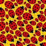 Seamless Repeating Ladybug Pattern