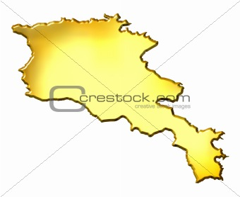Armenia 3d Golden Map